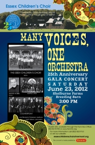 Essex Children's Choir 25th anniversary concert, conducted by Vermont ACDA member Constance Price