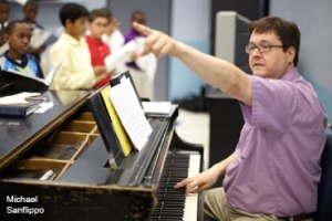 Michael Sanflippo, Newark Boys Choir, Vermont ACDA guest condutor children's honors choir
